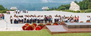 Nordorea rundresa panorama 300x120 - Pyongyang, North Korea-july 27, 2014: Korean Students At The Memorial Cemetery Of Revolutionaries In