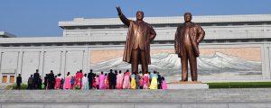 sevardheter nordkorea panorama 300x120 - Pyongyang, North Korea - May 1, 2019: Mansudae Monument. Mansudae Is The Most Respected Monument Of